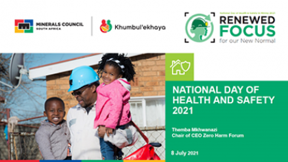 National day of health and safety 2021: Themba Mkhwanazi Chair of CEO Zero Harm Forum
